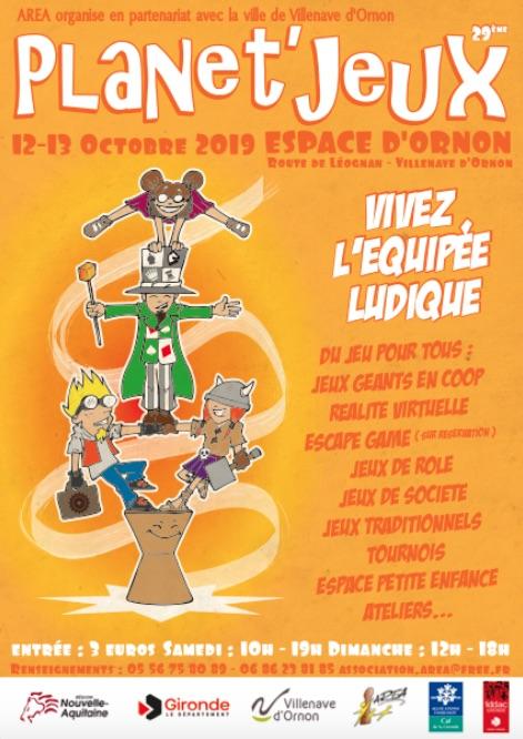 Festival Planet'Jeux 2019 à Villenave d'Ornon